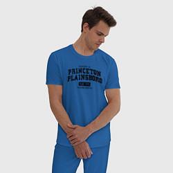 Пижама хлопковая мужская Princeton Plainsboro цвета синий — фото 2