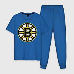 Пижама хлопковая мужская Boston Bruins цвета синий — фото 1