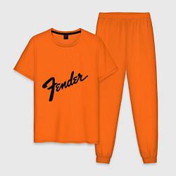Пижама хлопковая мужская Fender цвета оранжевый — фото 1