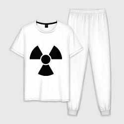 Пижама хлопковая мужская Радиоактивный цвета белый — фото 1