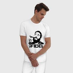 Пижама хлопковая мужская FIdel цвета белый — фото 2