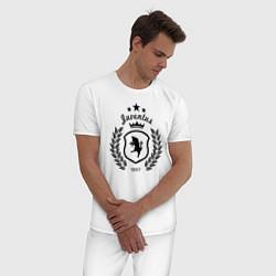 Пижама хлопковая мужская Juventus King 1897 цвета белый — фото 2