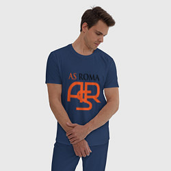 Пижама хлопковая мужская Roma ASR цвета тёмно-синий — фото 2