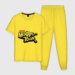 Пижама хлопковая мужская AND1 Mixtape tour цвета желтый — фото 1