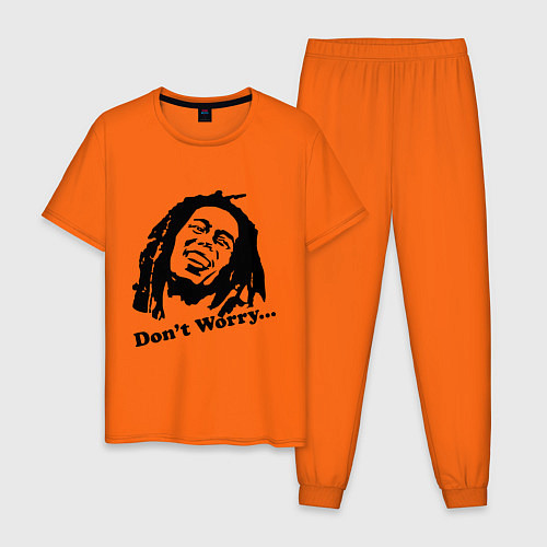 Мужская пижама Bob Marley: Don't worry / Оранжевый – фото 1