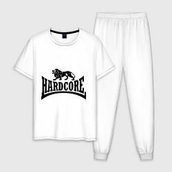 Пижама хлопковая мужская Hardcore цвета белый — фото 1