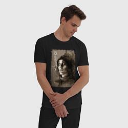 Пижама хлопковая мужская Ville Valo: Pandemonium цвета черный — фото 2