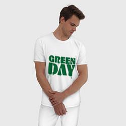 Пижама хлопковая мужская Green Day цвета белый — фото 2