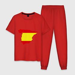Пижама хлопковая мужская Испания (Spain) цвета красный — фото 1