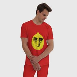 Пижама хлопковая мужская John Lemon цвета красный — фото 2