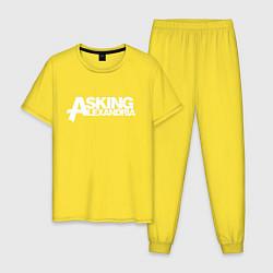 Пижама хлопковая мужская Asking Alexandria цвета желтый — фото 1
