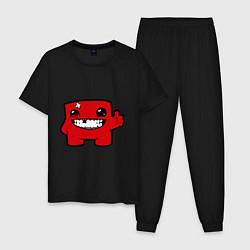 Пижама хлопковая мужская Super Meat Boy цвета черный — фото 1