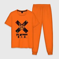 Пижама хлопковая мужская The Notorious BIG цвета оранжевый — фото 1