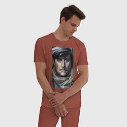 Пижама хлопковая мужская Остап Бендер: портрет цвета кирпичный — фото 2