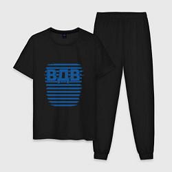 Пижама хлопковая мужская ВДВ цвета черный — фото 1