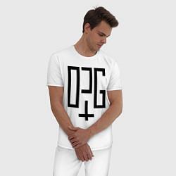 Пижама хлопковая мужская OPG цвета белый — фото 2