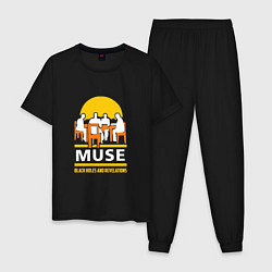 Пижама хлопковая мужская Muse: Black Holes цвета черный — фото 1