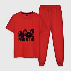 Пижама хлопковая мужская Pink Floyd цвета красный — фото 1