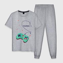 Пижама хлопковая мужская Perfect Team: Player 2 цвета меланж — фото 1