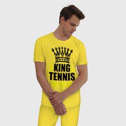 Пижама хлопковая мужская King of tennis цвета желтый — фото 2