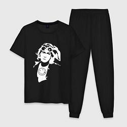 Пижама хлопковая мужская Kurt Cobain цвета черный — фото 1