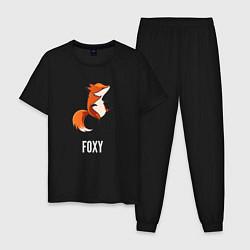 Пижама хлопковая мужская Little Foxy цвета черный — фото 1