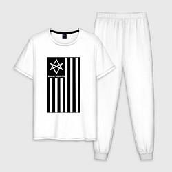 Пижама хлопковая мужская BMTH Flag цвета белый — фото 1