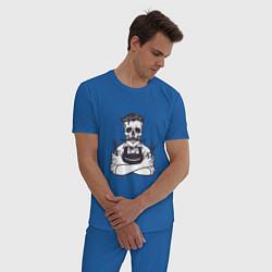 Пижама хлопковая мужская Barber Master цвета синий — фото 2