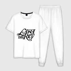Пижама хлопковая мужская Lana Del Rey цвета белый — фото 1