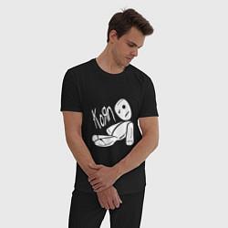 Пижама хлопковая мужская Korn Toy цвета черный — фото 2
