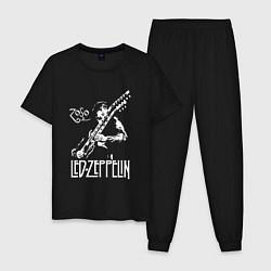 Пижама хлопковая мужская Led Zeppelin цвета черный — фото 1