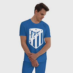 Пижама хлопковая мужская FC Atletico Madrid цвета синий — фото 2