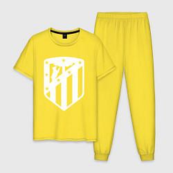 Пижама хлопковая мужская FC Atletico Madrid цвета желтый — фото 1