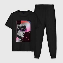 Пижама хлопковая мужская Vapor David цвета черный — фото 1