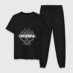 Пижама хлопковая мужская The Offspring цвета черный — фото 1