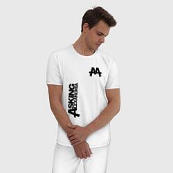 Пижама хлопковая мужская Asking Alexandria Style цвета белый — фото 2
