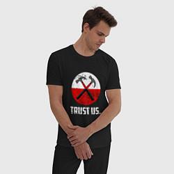 Пижама хлопковая мужская Trust us цвета черный — фото 2