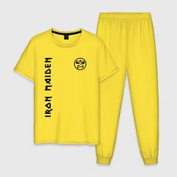 Пижама хлопковая мужская Iron Maiden Style цвета желтый — фото 1