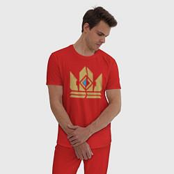Пижама хлопковая мужская Gwent Crown цвета красный — фото 2