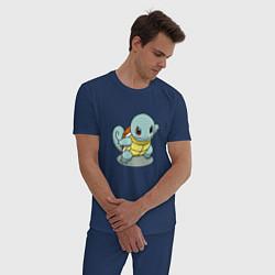 Пижама хлопковая мужская Pokemon Squirtle цвета тёмно-синий — фото 2