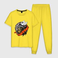 Пижама хлопковая мужская Яровит цвета желтый — фото 1