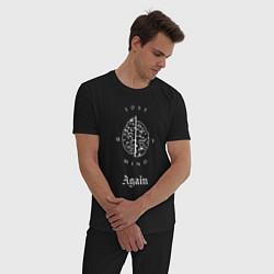 Пижама хлопковая мужская Scarlxrd: Again цвета черный — фото 2