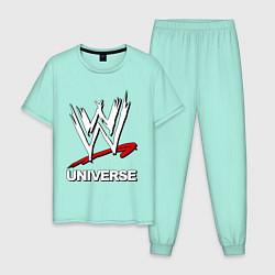 Пижама хлопковая мужская WWE universe цвета мятный — фото 1