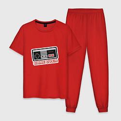 Пижама хлопковая мужская Game Over: nintendo цвета красный — фото 1
