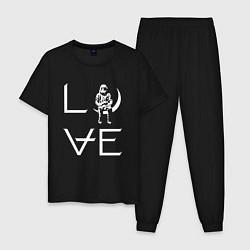 Пижама хлопковая мужская AVA Love цвета черный — фото 1