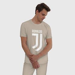 Пижама хлопковая мужская Ronaldo CR7 цвета миндальный — фото 2