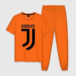Пижама хлопковая мужская Ronaldo CR7 цвета оранжевый — фото 1