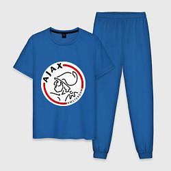Пижама хлопковая мужская Ajax FC цвета синий — фото 1