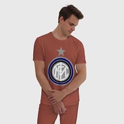 Пижама хлопковая мужская Inter FC цвета кирпичный — фото 2