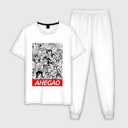 Пижама хлопковая мужская AHEGAO цвета белый — фото 1